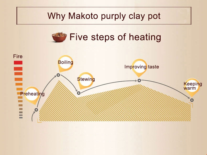 Makoto Purple Clay Slow Cooker DGD40-40SWD 4L
